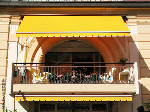 Balcony of a luxury hotel