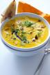 Kürbissuppe mit Baguette
