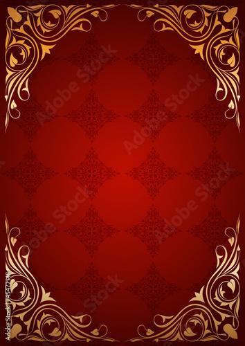 Kırmızı çiçek desenli kitap kapağı