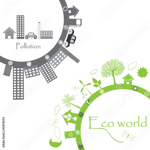 green life vs. pollution