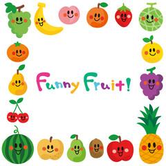 笑顔の果物たち フレーム