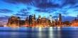 Panoramique de New York skyline.
