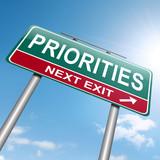 Priorities concept. poster