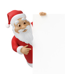 Santa claus with sheet of paper, work-path included