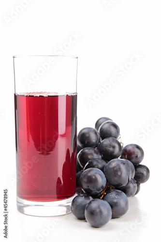isolated grape juice
