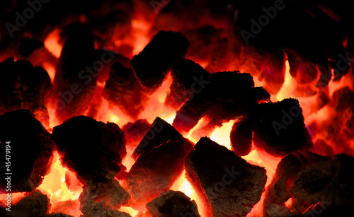 Glowing Coal Fire