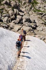 Wanderer im Alpstein - Alpen - Schweiz