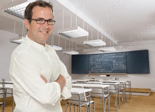 Happy maths teacher