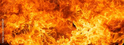 Leinwanddruck Bild blaze fire flame texture background