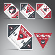 Set of bakery labels. Vector