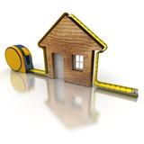 House measuring wood