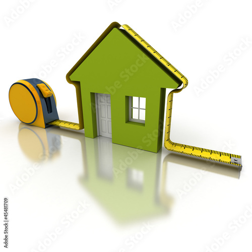 House measuring green