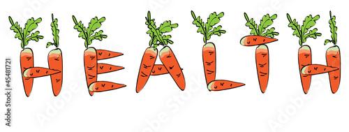 Carrots alphabet