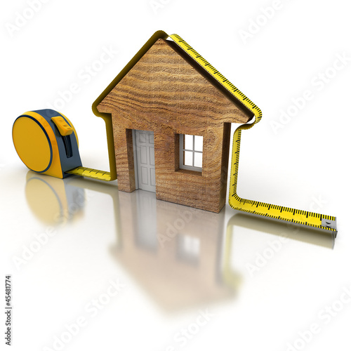 House measuring wood