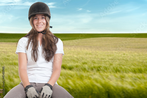 Riding on the fields