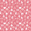 Vector seamless pattern with bright kid icons
