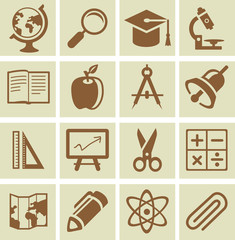 Vector design elements for school and university