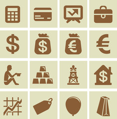 Vector design elements for finance and economy