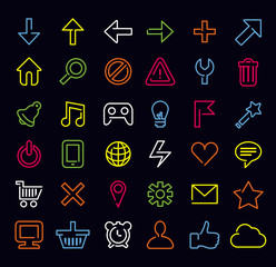 technology icons and signs