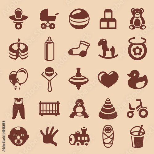 Vector design elements for children and kids