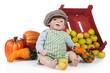 Baby Puppe mit Kürbise