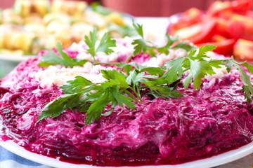 Salad Herring in a fur coat