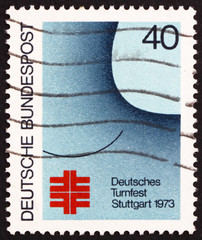 Postage stamp Germany 1973 German Turner Festival