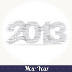 New 2013 year greeting card vector