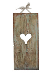 Heart shape on old wood sign