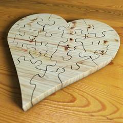 Herz aus Holz geschlossen