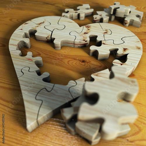 Herz aus Holz mit Loch