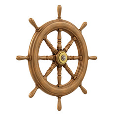 3d Ships Wheel from the side
