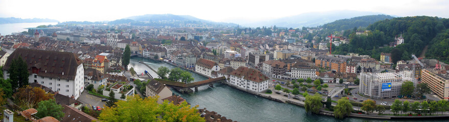 Panoramic view of Lucern, Switzerland