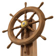 3d Ships wheel viewed from below decks
