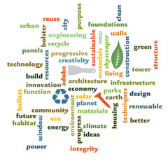 green and eco themed building graphic