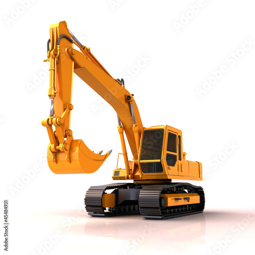 Excavator isolated