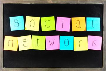 paper SOCIAL NETWORK on blackboard