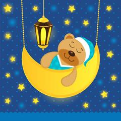 sleeping teddy bear
