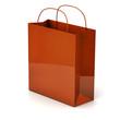 Orang shopping bag