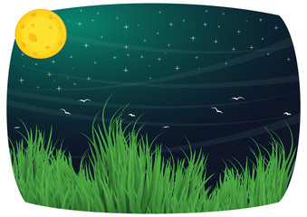 Moony background vector illustration