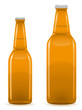 beer bottle vector illustration