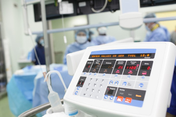 electronic device in the operating room.