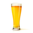 Isolated glass of beer - 45489345