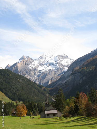 Majestic Alpine view in Kandersteg, Switzerland