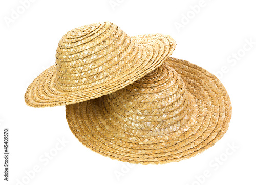 Two straw hats