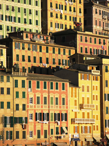 Colorful houses in Camogli, Italy