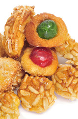 panellets, typical pastry of Catalonia, Spain