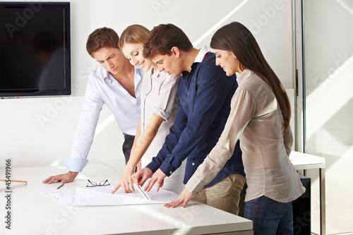 Team im Architekturbüro