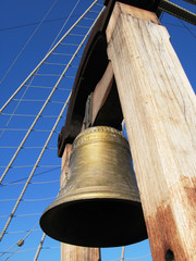Bronze bell of an old Spanish Galleon
