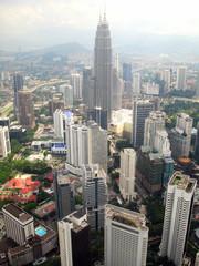 Aerial view of Kuala Lumpur